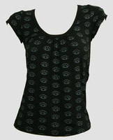 Front - Punch black-grey top fashion top
