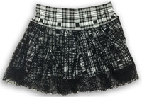 Scotch white punk mini skirt