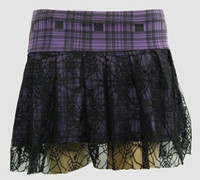 Scotch purple punk mini skirt