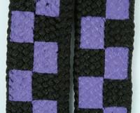 Check purple L check shoelace
