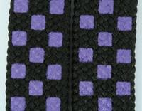 Check purple S check shoelace