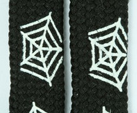 Spiderweb squared black animal shoelace