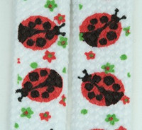 Ladybird white animal shoelace