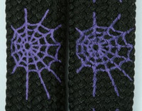 Spiderweb lines black-purple animal shoelace