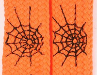 Spiderweb lines orange animal shoelace