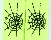 Spiderweb lines yellow animal shoelace