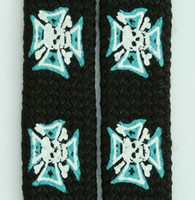 Herocross skull black-blue mix shoelace