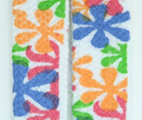 Flower color mix shoelace