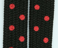 Black-red mix shoelace