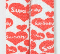 Heart white-red sweet mix shoelace