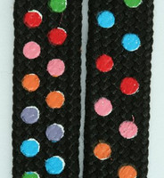 Dot color S mix shoelace
