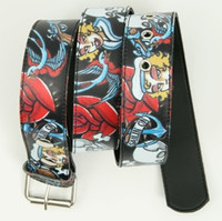 Sailing on black skull belt