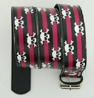Skull stripe purple skull belt