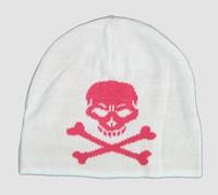 Skull white-pink skull beanie