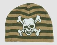Skull H green skull beanie