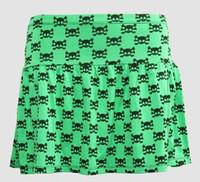 Cute skull green cute & dangerous mini skirt