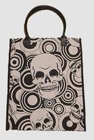 Squared skull black-white hand bag Bag