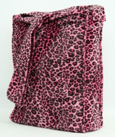 Leopard pink LV large fluffy bag
