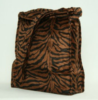 Zebra D-brown LV large fluffy bag