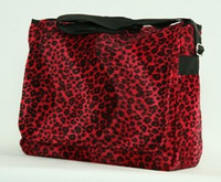 Leopard red LH large fluffy bag