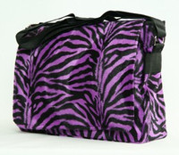 Zebra purple LH large fluffy bag