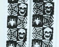 Skull check spiderweb skull B&W skull