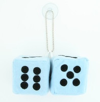 Dice L blue / black 2 dice car accessory