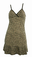 Front - SP leopard brown spaghetti dress