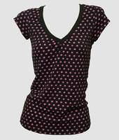 Front - Star basic black-pink fashion t-shirt
