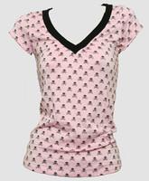 Skull L pink-black fashion t-shirt