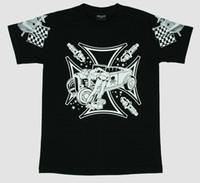 Cross girl car pin up t-shirt