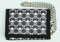 Skull bone red eye mixed with chain wallet