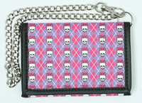 Classic cute pink-purple mixed with chain wallet