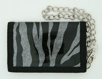 Zebra silver mixed with chain wallet