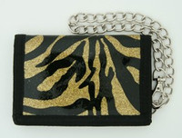 Zebra gold mixed with chain wallet