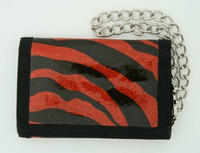 Zebra red mixed with chain wallet