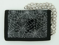 Spider black mixed with chain wallet