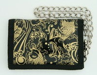 Carper gold mixed with chain wallet