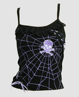 Front - PUS spider lace purple top punk top