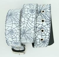 Spider white animal belt