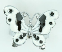 Butterfly white animal ring