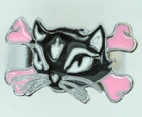 Cat Bone Black-Pink Animal Ring