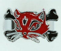 Cat bone red-black animal ring