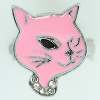 Cat pink animal ring