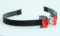 Black-red / butterfly white red bow & animal