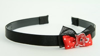 Black-red / cat red Red bow & animal