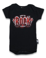Born to rock black-red six bunnies baby body