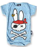 Pirate flash blue six bunnies baby body