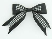 Black clean hair clips piece