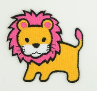 Lion king with pink hair yellow